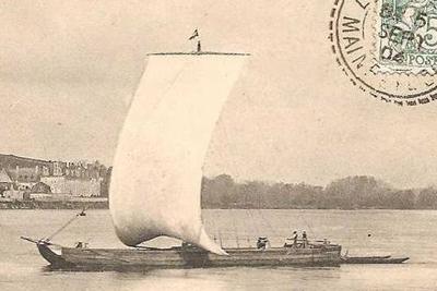 chaland sur la Loire