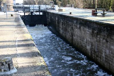 L'écluse de Pont-aux-Moines